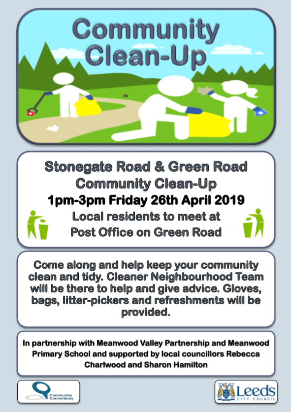 Community Clean-Up 26th April, Stonegate Road and Green Road
